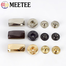 10Set Fashion Metal Snap Buttons Down Coat Decorative Button Sewing Botones Outerwear Overcoat Fasteners Press Stud Buckle