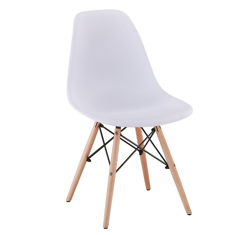 European Style Dining Chair Plastic Chair Wood Chair Eames Library Living Room Bedroom Hotel Leisure Chair Manufacturers Direct