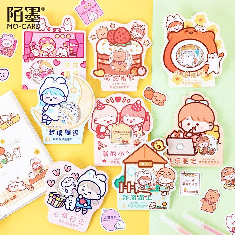40pcs/1lot Kawaii Stationery Stickers Rabbit Diary Decorative Mobile Stickers Scrapbooking DIY Craft Stickers
