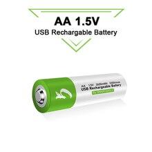 АА перезаряжаемая 15 v 2600mwh usb литий ионная аккумуляторная