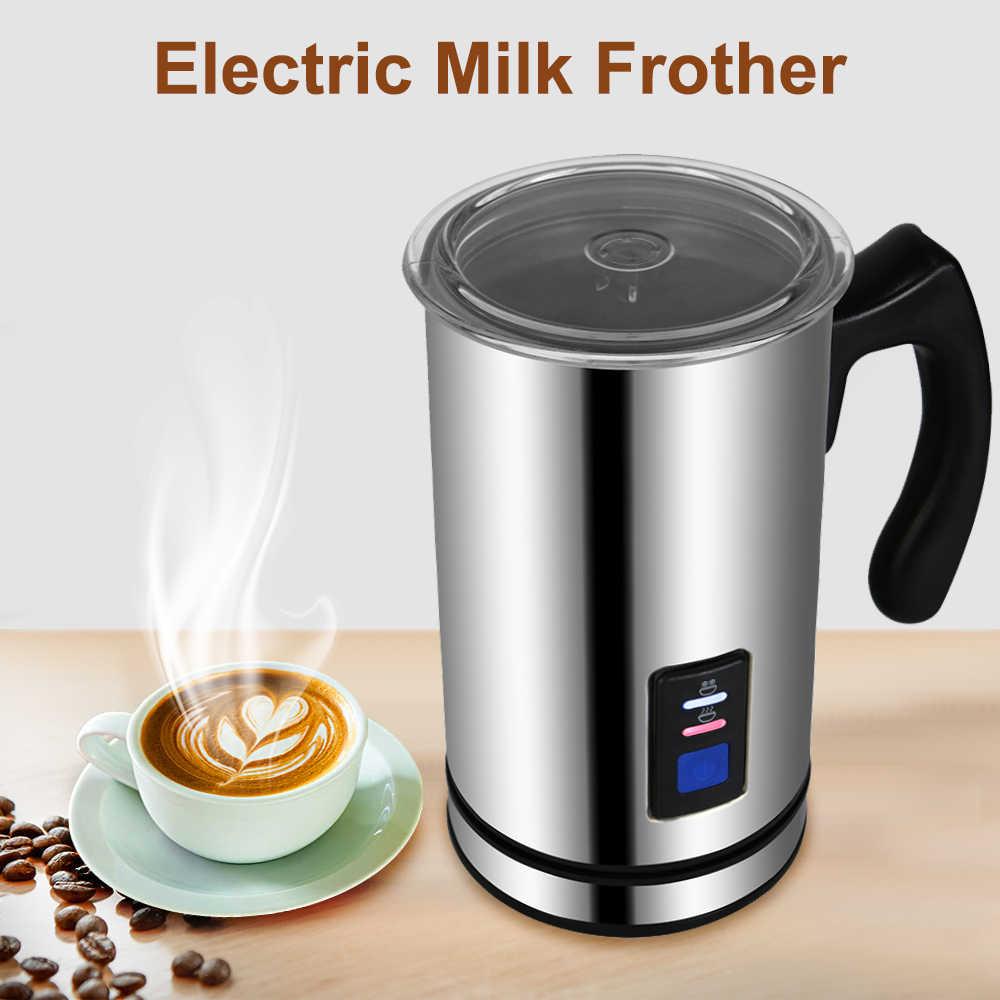 Vaporizador eléctrico de leche con 3 funciones, calentador de jarro de leche, máquina de hacer Chocolate con burbujas de capuchino de acero inoxidable 304