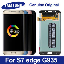 "Original Super AMOLED For 5.5"" Samsung S7 edge LCD Display Screen +Touch Screen Panel Digitizer Replacement For G935 G935F G935A(China)"
