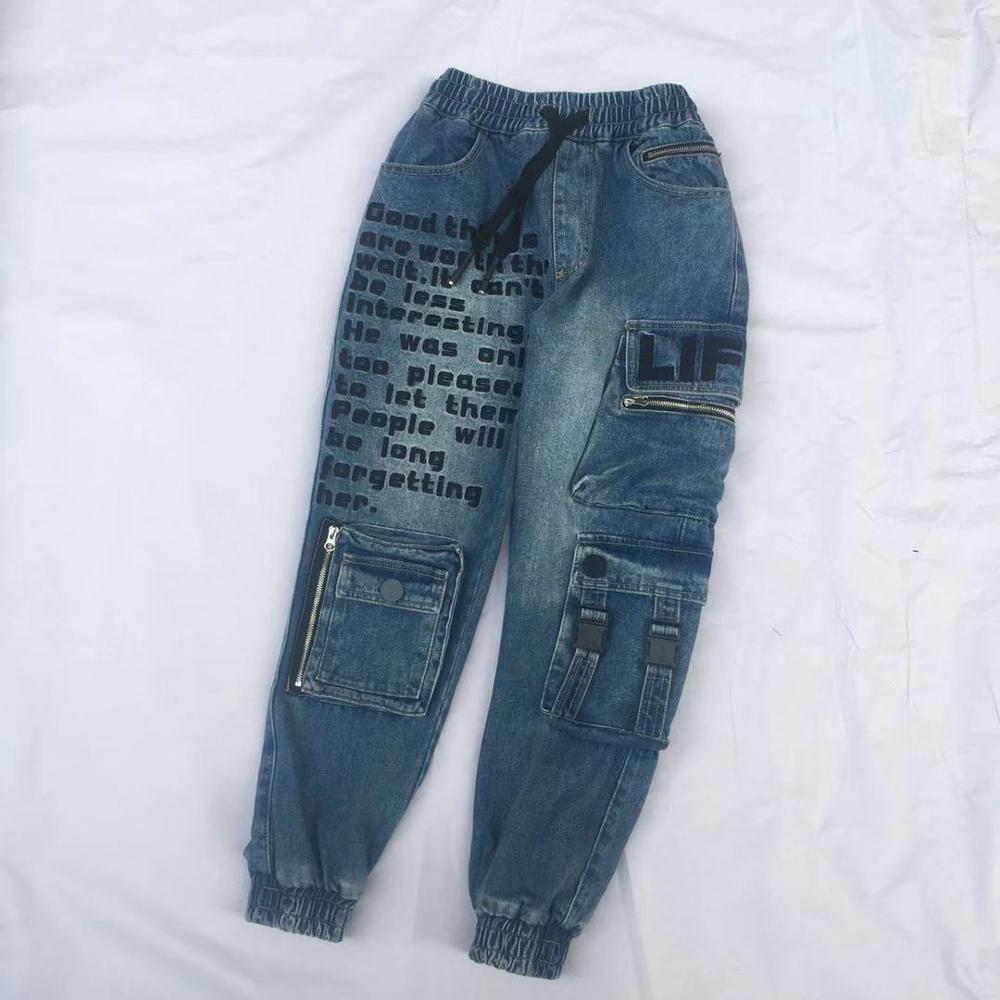 Denim Cargo Pants Women Jeans Woman Streetwear Hippie
