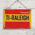 Цветной винтажный настенный знак Raleigh TI из Джерси для велосипеда, езды на велосипеде, украшение для стен