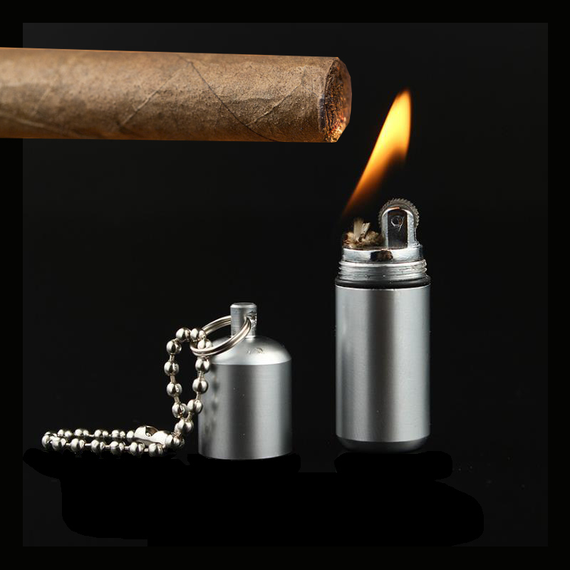 Creative Stainless Steel Torch Lighter Survival Tool Kerosene Oil Flame Lighter Matches Flint Fire Starter Cigarette Accessories