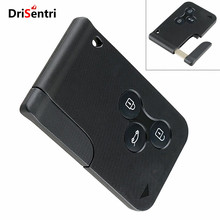 Black 3 Buttons Keyless Entry Replacement Key Remote Fob Card Shell Case for Renault Clio Renault Megane New Style free shipping remote key renault megane 4 buttons 433mhz replace new uncut remote key fob pcf7952 for renault megane 2009 2014