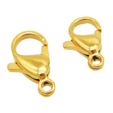 20pcs/lot 9/10/12/15MM Lobster Clasps Stainless Steel Jewelry Findings Clasp Hooks Diy Necklace& Bracelet Chain Accessories