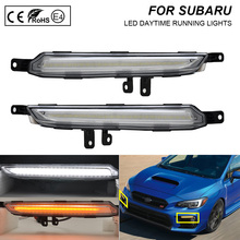 цена на 2pcs For Subaru WRX 2018 Car DRL Waterproof 12V LED Daytime Running Light Fog Lamp Bulb