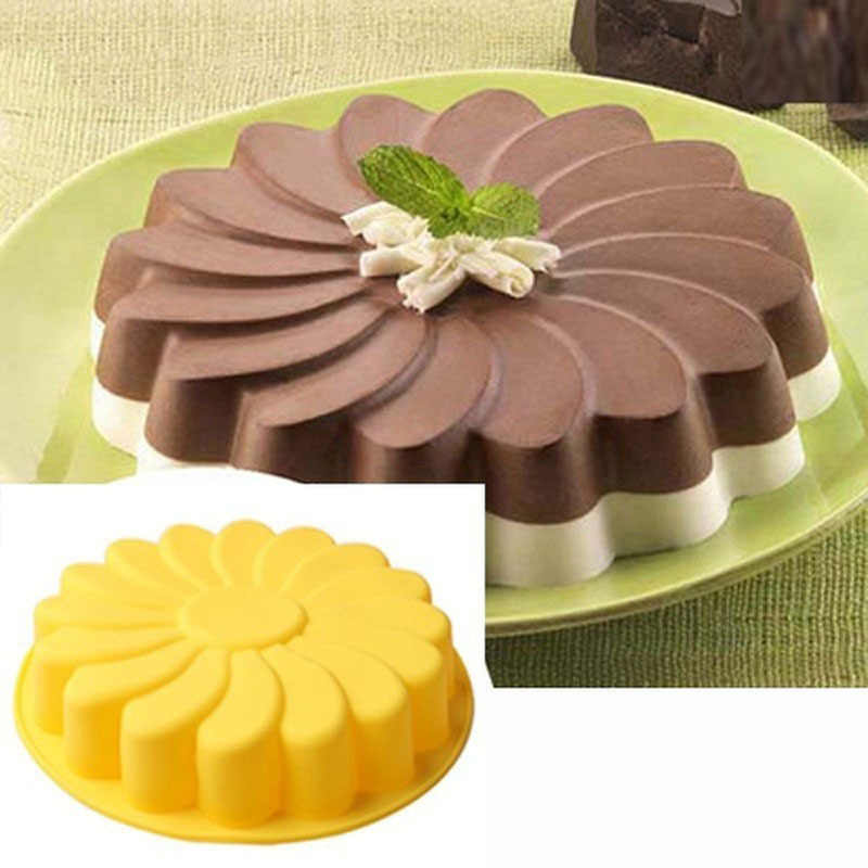 DIY 3D Fondant Silicone Cake Molds Sunflower Baking Dish Bakeware Cookie Mould Pastry Cake Decorating Tool Kitchen Accessories