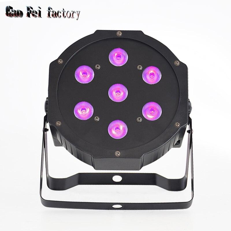 7X12W LED A Par Wash Lights With 8 Chs DMX Control RGBW 4in1 Wall Wash Effect Disco Lights LED Flat Par Uplights For Lighting