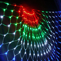 Peacock String Light 3M Peacock Mesh Net Led String Lights Outdoor Wedding Window Strings For Christmas New Year Party Decor