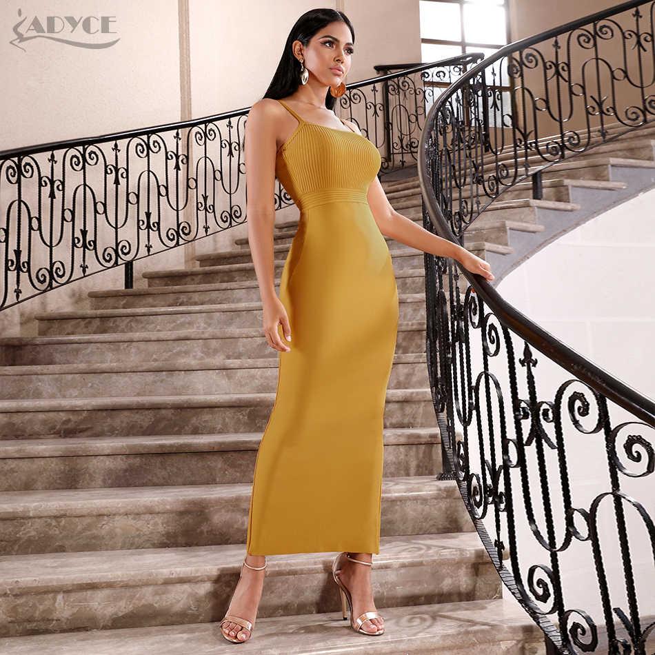 Adyce Bodycon Mùa Hè Băng Đô Đầm Lưới Hoa Nữ 2019 Sexy Spaghetti Dây Đầm Maxi Câu Lạc Bộ Nổi Tiếng Tối ĐẦM DỰ TIỆC Vestidos