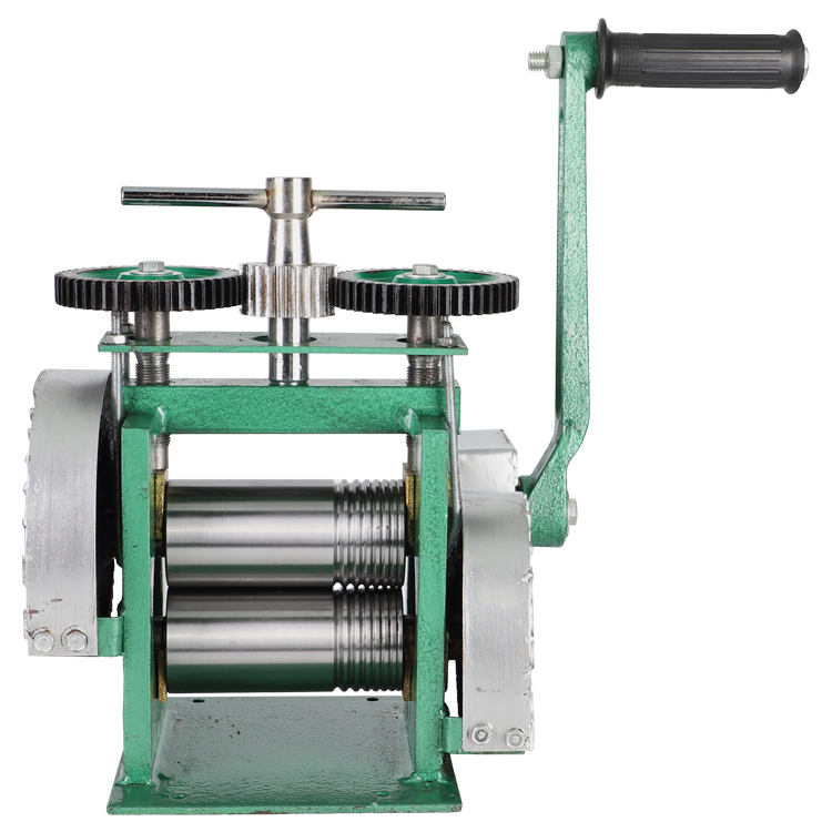 Square Hand Operate Mini Gold Rolling Mill , Jewelry Rolling Mill With Maximum Opening 0-5 Mm