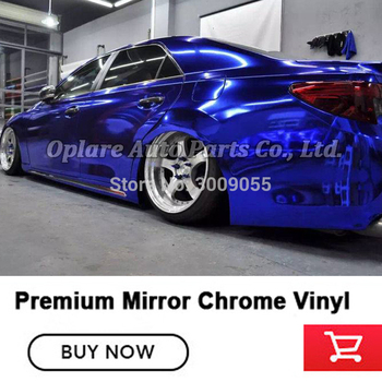 vinyl chrome Dark Blue Chrome Car Wrap Vinyl Film low initial tack adhesive Non-degumming.Non-fading.easy to install