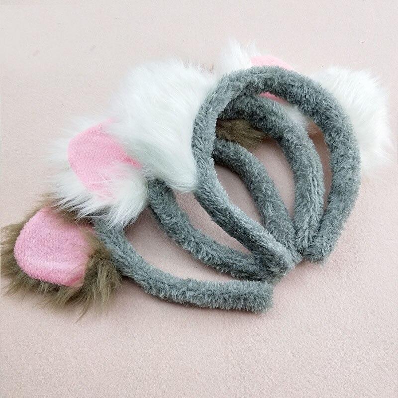 Serre-tête en peluche Koala pour filles, accessoires mignons pour cheveux, décoration de noël, fête, carnaval