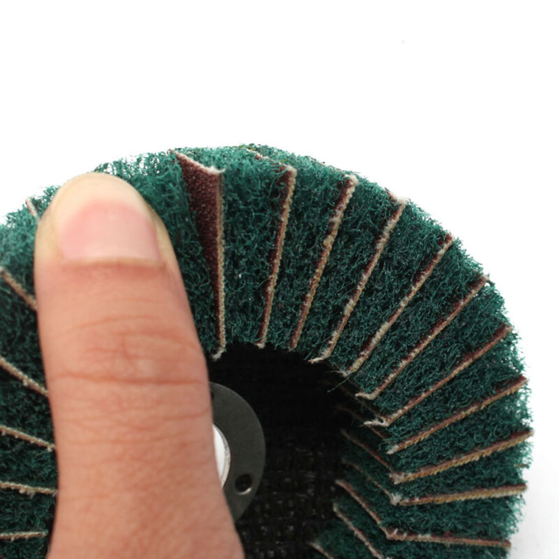 Metal Flap Disc Plastic Buffer Grinder Tools 4 Inch Scouring Pad Green