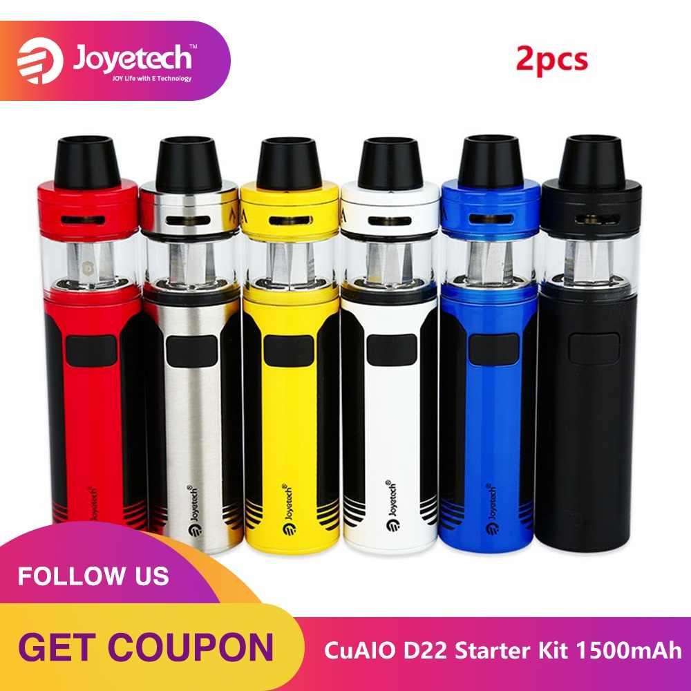 2 шт. оригинальный набор Joyetech CuAIO D22 Vape с 1500 мАч встроенным аккумулятором 2 мл емкость распылитель комплект электронной сигареты Vs Ego Aio D22 комплект