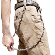 Belt Chain Skull Men Accessories Jean Biker Punk Metal DR45 Jewelry Key Rock Hip-Pop
