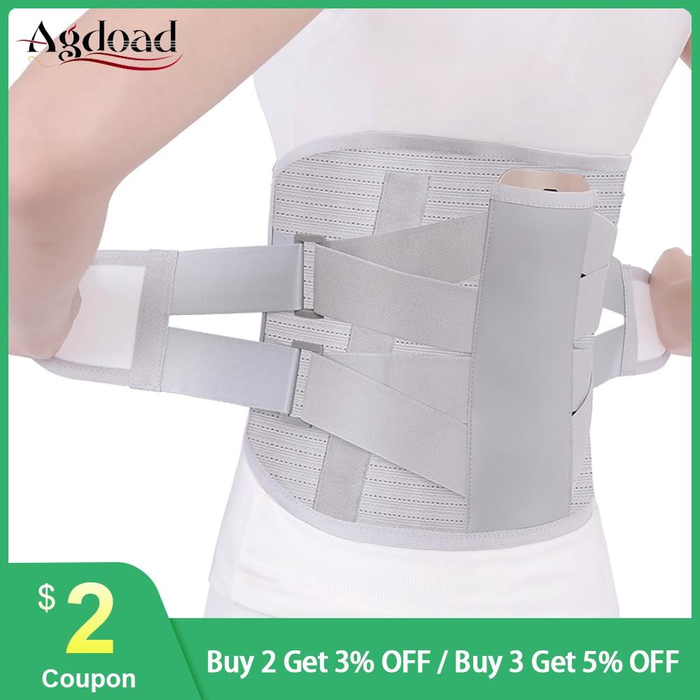 Corsé de alivio del dolor de tensión médica ortopédica de hernia de disco Cinturón de Soporte Lumbar para la espalda