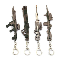 12CM APEX LEGENDS Battle Royale Metal Gun Model Toys Keychain Kids Gifts Mini Gun fortnight battle royale toy model the tactical shot gun keychain alloy weapons kids toy collection decoration