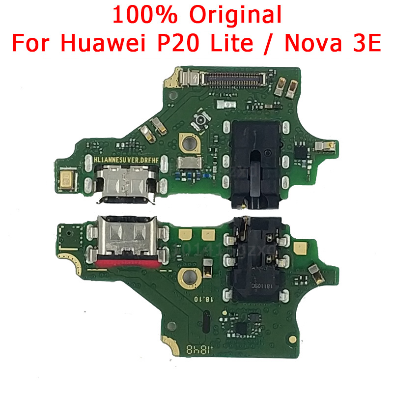 Original Charging Port For Huawei P20 Lite USB Charger Board For Nova 3E PCB Dork Connector Flex Cable Microphone Spare Parts