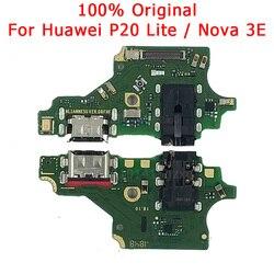 Oryginalny Port ładowania dla Huawei P20 Lite płyta ładowania USB dla Nova 3E PCB złącze Dork Flex Cable mikrofon części zamienne