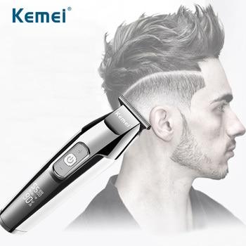 Kemei Professionele Tondeuse Voor Mannen Elektrische Tondeuse Kapsel Machine Lcd Digitale Diy Hair Styling Tools Kapper Clippers