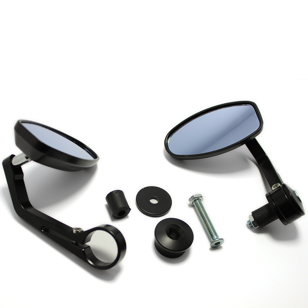 """Mirror Universal Clip On Fits 7//8/"""" /& 1/"""" Handlebars Excellent Chrome Finish"""