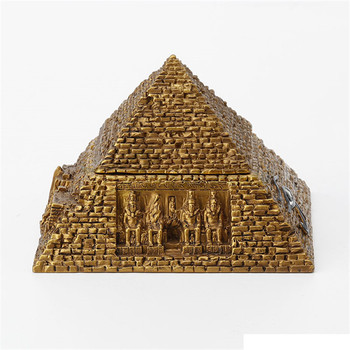 Creative Ancient Egypt Pyramid Jewel Box Art Sculpture Figurine Resin Crafts Decorations For Home Birthday Gift R3672