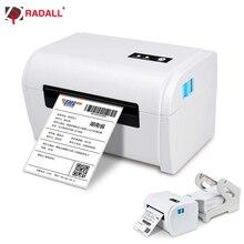 Impresora de etiquetas térmicas con Bluetooth, dispositivo de impresión térmica de 4 pulgadas para código de barras de dirección con USB/Bluetooth