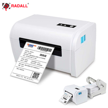 Ücretsiz kargo Bluetooth termal etiket yazıcı 4 inç termal yazıcı adres için barkod makinesi USB/Bluetooth otomatik soyma