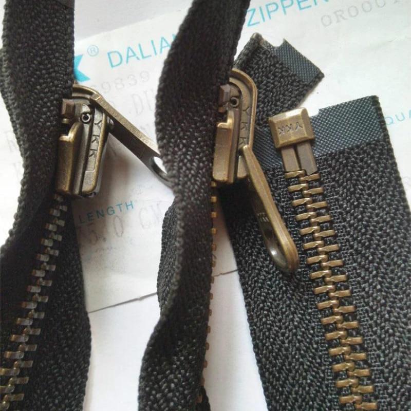 YKK Métal fermetures à glissière Fermeture Éclair Taille 7 Dal 1 Diverses Tailles en pouces fermé fin noir