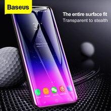 Baseus Protector de pantalla de cristal templado 3D para Samsung, Protector de pantalla de superficie completa para Samsung Galaxy S9 S9Plus