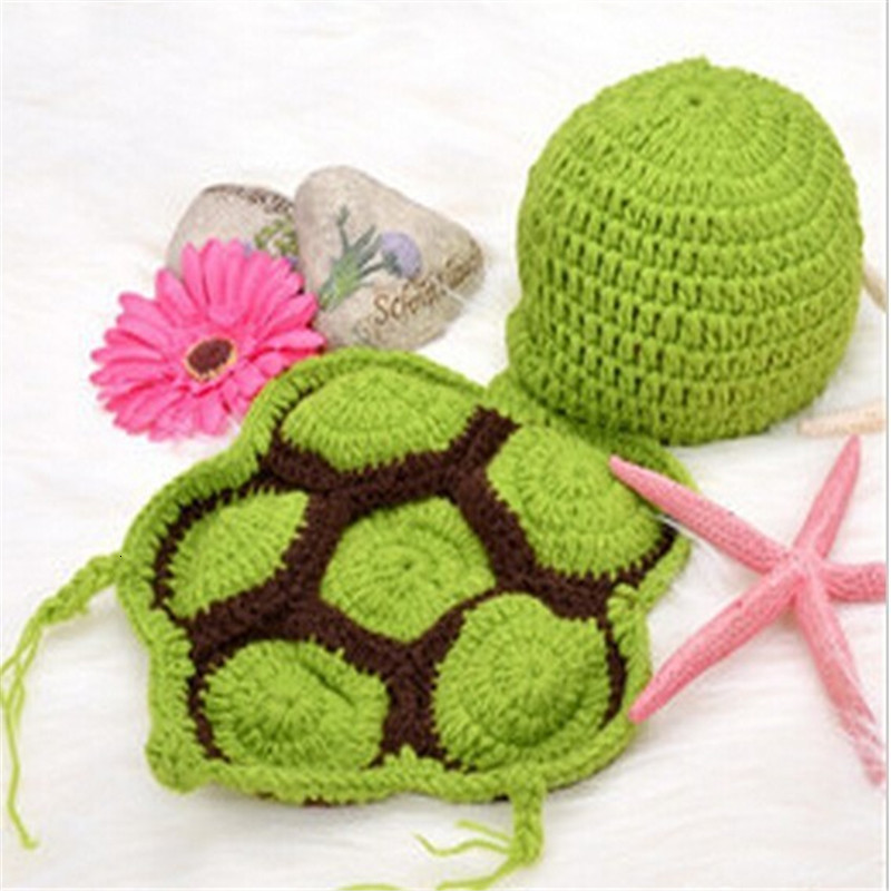 Baby-Newborn-photography-props-Turtle-Knit-Crochet-Clothes-Beanie-Hat-Outfit-Photo-Props-Baby-photography-baby