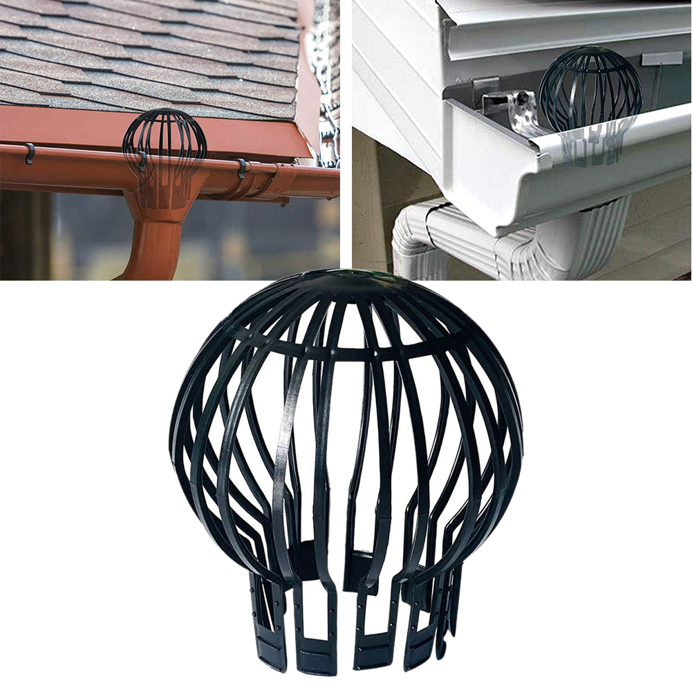 Reliable Anti-blocking Gutter Guard Black Home Strainer Leaves Protection Downpipe Garden Pp Outdoor Filter Roof Drain Easy Install