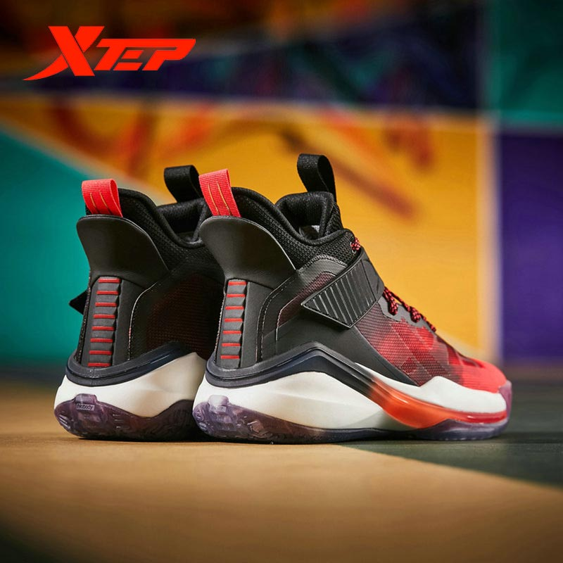 Xtep Evil Series Men's Basketball Shoes 2020 Spring High-top Colorful Men's Sneakers 980119121269