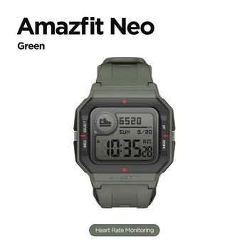 NEW 2020 Amazfit Neo Smart Watch Bluetooth Smartwatch 5ATM Heart Rate Tracking 28Days Battery Life Watch For Android IOS Phone 8
