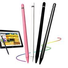 Universal anti-impressões digitais macio nib capacitivo caneta stylus tela de toque compatível para todos os smartphones e tablets da tela de toque