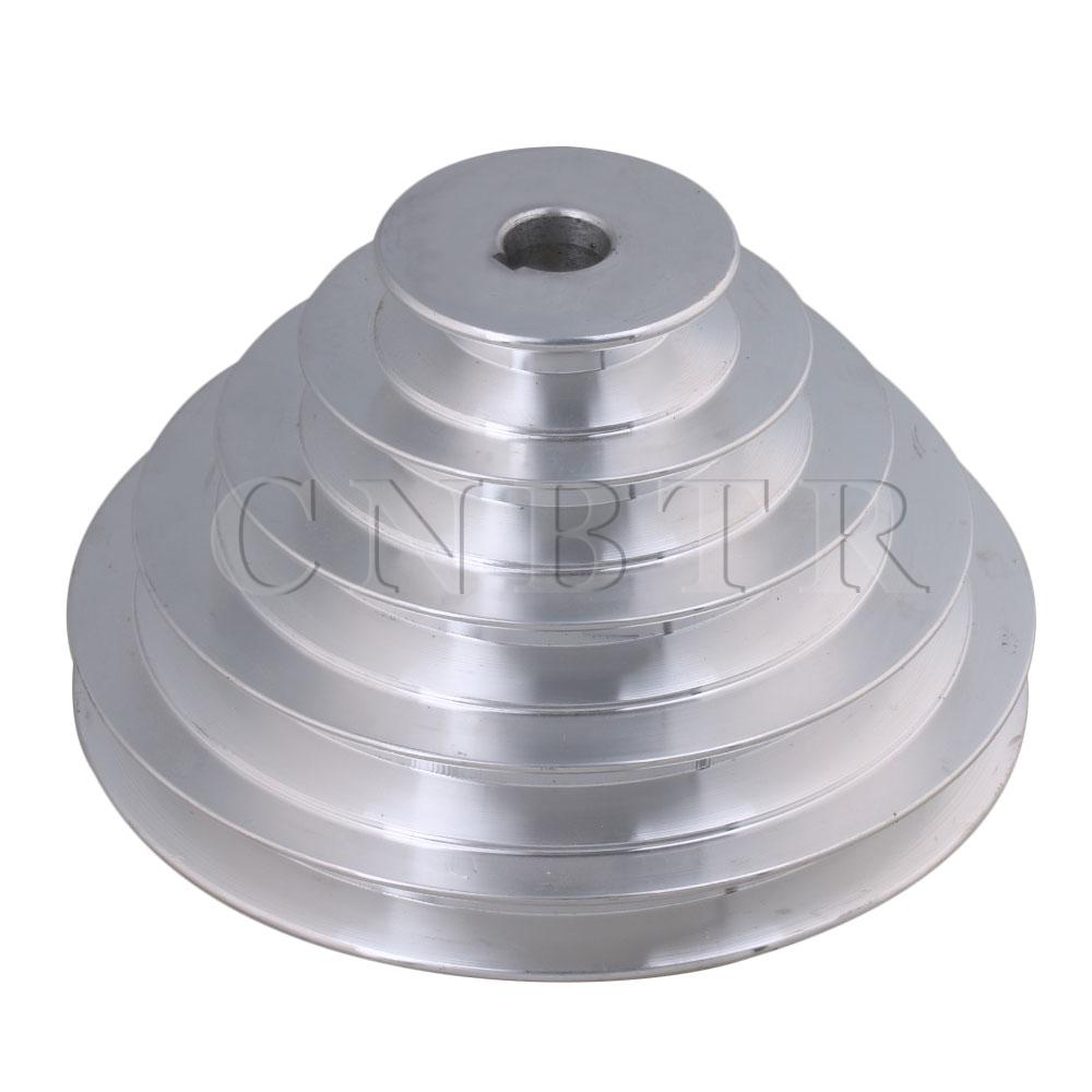 2 Pcs A Type Pulley Double V Groove Bore 19mm OD 60mm for A Belt Motor