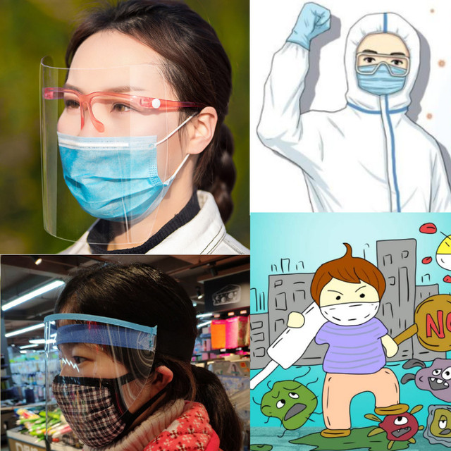 Face Shield Eye Protector Kitchen splatter guard Cooking/Nursing/Anti-fog Anti-Oil Splatter Mask saliva splash guard 1
