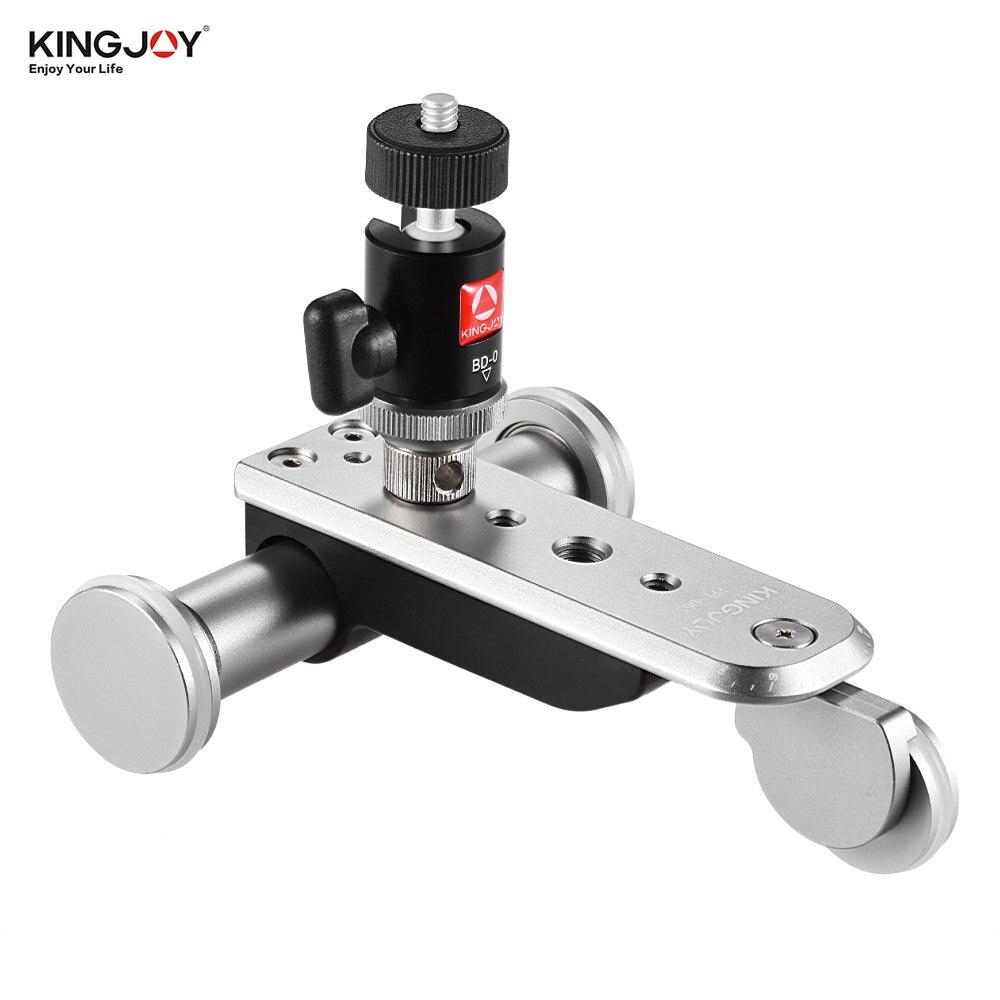 Kingjoy 3 roues Auto Dolly 5 vitesses motorisé vidéo voiture curseur patineur avec batterie Rechargeable/aluminium pour caméra caméscope