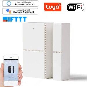 Image 4 - Sensor de ventana de puerta magnética inteligente con WIFI, alarma de apertura y entrada, Detector de seguridad con Control remoto para Smart Life, Tuya, Alexa y Google Home
