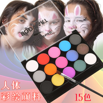 15 Colors Face Paint Halloween Party Body Art Festival Schmink Non-toxic Washable Kids Beauty Makeup Tool