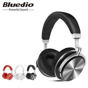 Image 1 - Bluedio T4S Chủ Động Loại Bỏ Tiếng Ồn Không Dây Bluetooth Tai Nghe Không Dây Tai Nghe Có Mic Dành Cho Điện Thoại