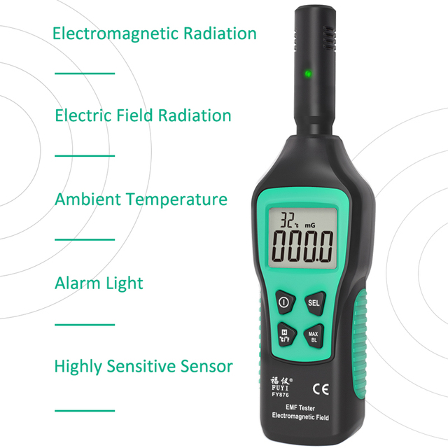 Handheld electromagnetic field rad