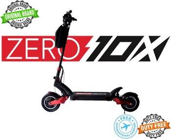 Оригинальный бренд ZERO 10X Высокопроизводительный электрический скутер 52V 18AH/24AH (LG) двойной мотор 1000W * 2, гидравлический, максимальная скорость...