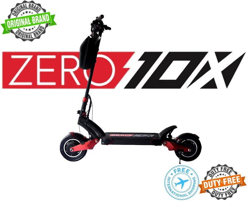 Originale di marca ZERO 10X ad alte prestazioni scooter elettrico 52V 18AH/24AH (LG) doppio motore 1000W * 2, idraulico, max velocità di 65 km/h