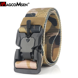 Image 3 - MAGCOMSEN Nylon Tactical Belts Men Multicam Military Heavy Duty Quick Release Belts Waistbands Army Airsoft Gears Paintball