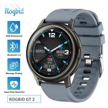 Rogbid GT 2 Smart Watch Men Women IP68 Waterproof Bluetooth 5.0 Sleep Monitor Fitness Heart Rate Tracker Smartwatch Android IOS
