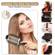 New One-Step Hair Dryer & Volumizer Straightener Brush Tangle Detangling Hot Air